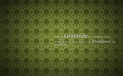 Post image for Abundance Wallpaper – Gratitude