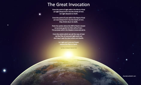 The Great Invocation by Alice A Bailey & Djwhal Khul